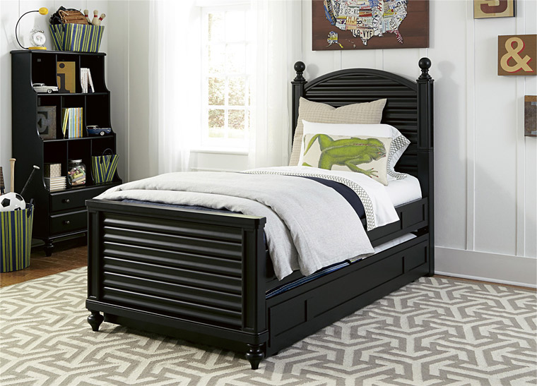 Smartstuff black reading bed with bookcase