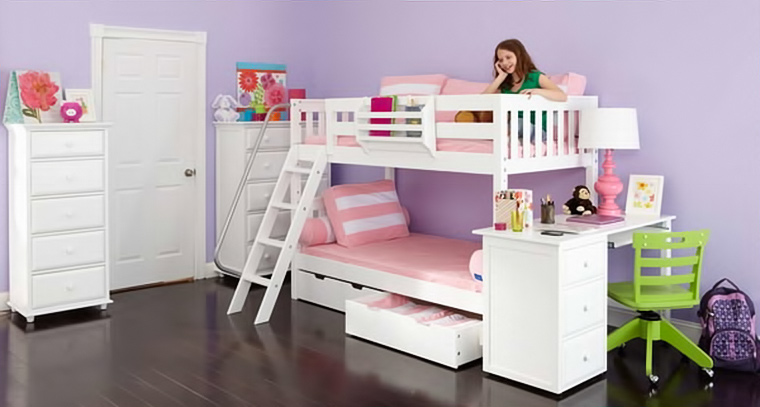 Maxtrix bunkbed with underbed storage and slanted ladder