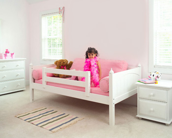 Maxtrix girls toddler bed with guard rails