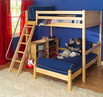 perpendicular t-shaped bunk bed by Maxtrix