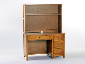Valley desk in pecan wood finish with hutch