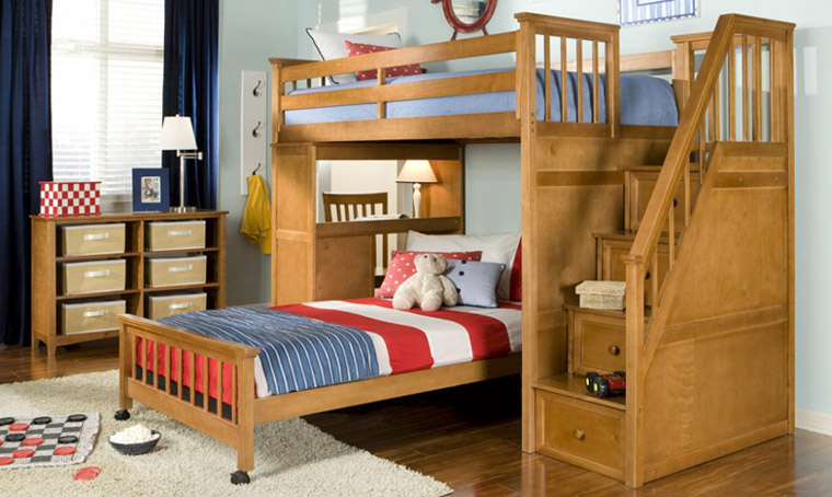 Valley staircase loft bed