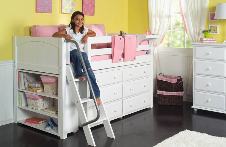 Maxtrix loft bed with underbed storage dressers